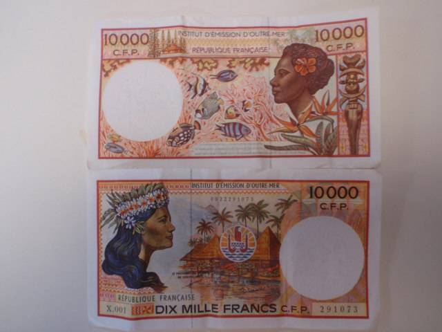Apr '09 - French Polynesian Francs look like art - click to enlarge