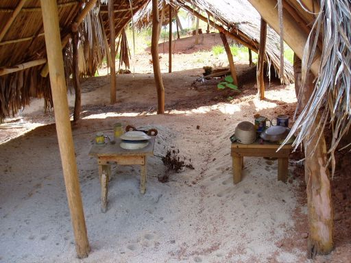 Feb '06 - Kuna Burial Hut, Isla Pinos - click to enlarge