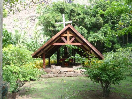 Apr '09 - Nuku Hiva - Daniel's Bay - Village chapel - click to enlarge