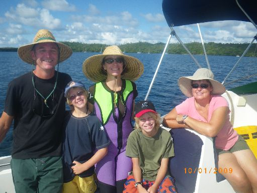 "Oct '09 - The crews of ""Whisper"" & ""Daydream"" go whale swimming - click to enlarge"